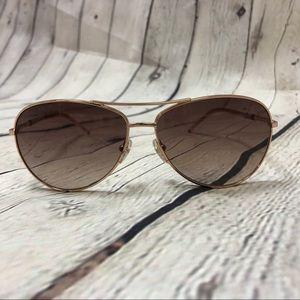 Marc Jacobs 59 Aviator Rose Gold Sunglasses